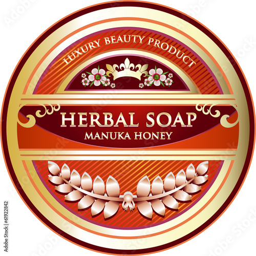 Herbal Soap Label - Manuka Honey