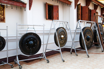 Gongs in thai temple