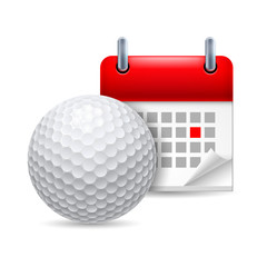Golf ball and calendar