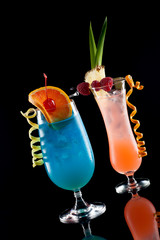 Rum Runner and Blue Lagoon - Most popular cocktails series