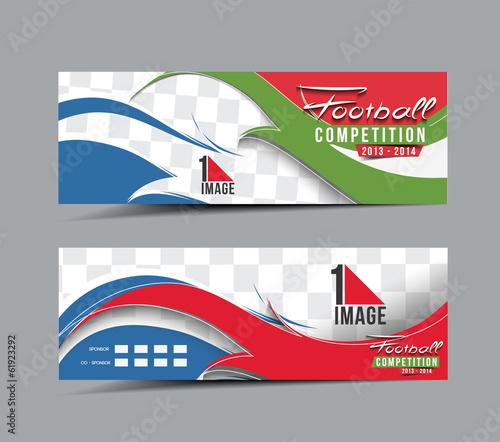 Football Competition Header & Banner Design - 61923292