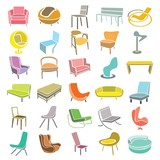 chair, furniture icons