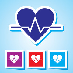 Colourful editable icon of Heart Beat