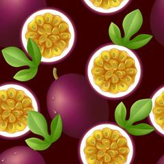 Passion fruit seamless pattern