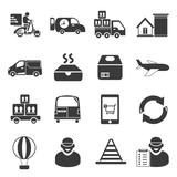 shipping service icons, delivery icons