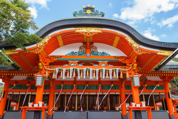 A shrine at  Fushimi Inari-taisha complex in Kyoto