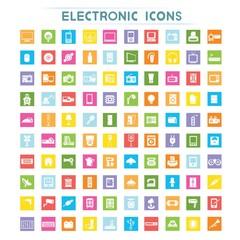 electronic icons, flat icons