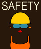 safety poster with female construction worker