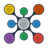 Metaball template colorful round diagram infographics for presen