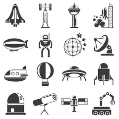 rocket icons, space icons
