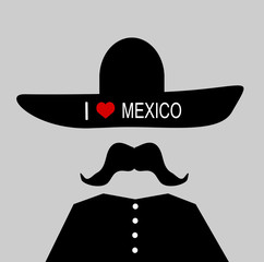 man wearing i love mexico sombrero