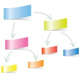 sticky note paper diagram