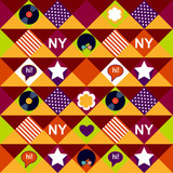vinyl New York pattern