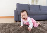 Aisa baby crying at home