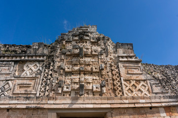 Quadrangle nunnery in details, Uxmal, Mexico (wall)