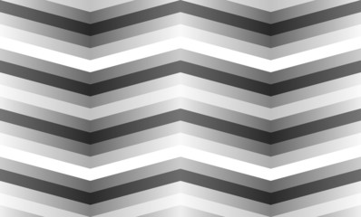 Vector seamless pattern with gray zigzag strips.