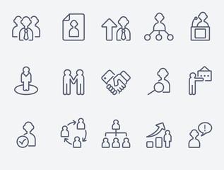 Human management icons
