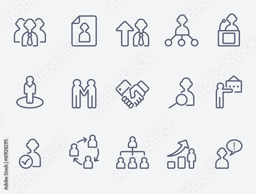 Human management icons