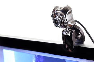 camera on computer monitor