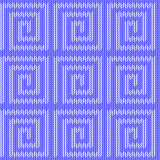 Design seamless blue labyrinth knitted pattern. Thread textured