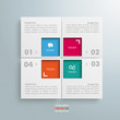 Website Template White 4 Squares 4 Options