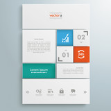 Website Template White Squares