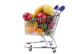 fruit in shopping cart