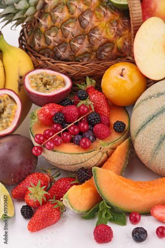 closeup on fruits