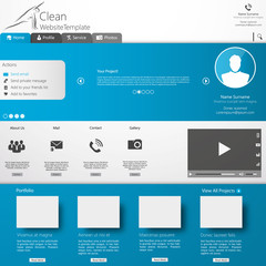 Website Template. Clean futuristic style, EPS 10