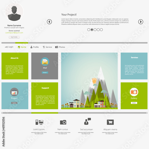 Eco Flat Metro Web Design Template.