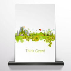 Modern Abstract Ecology Town Flyer Design