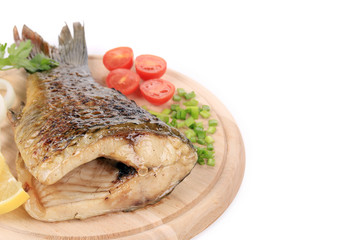 The tail of fried fish
