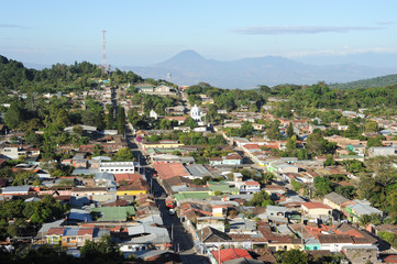 The village of Conception de Ataco on El Salvador