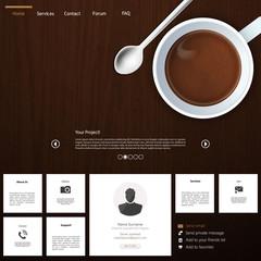 Modern  website design template Coffee Theme