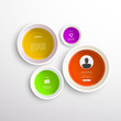 Colorful circles Infographics design