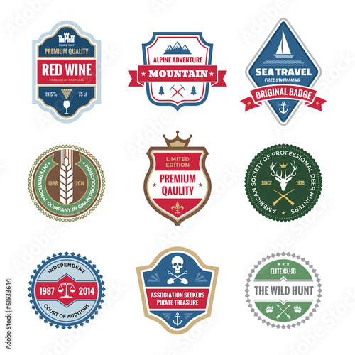 Badges Collection in Vector Format for Different Design Works
