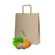 Paper bag and  fresh vegetables