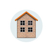 Vector icon of brick house