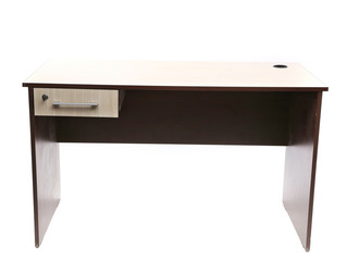 Student desk isolated with clipping path.