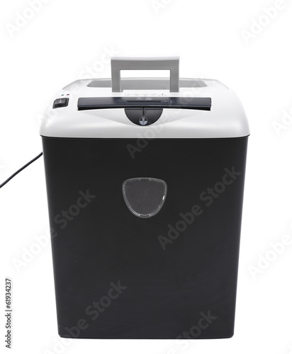 Close up of paper shredder.