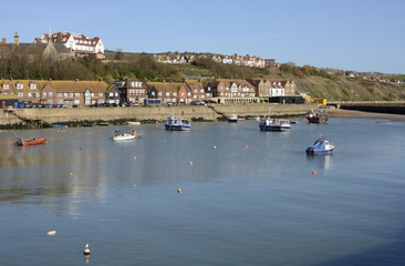 Harbour at Folkestone. Kent. England