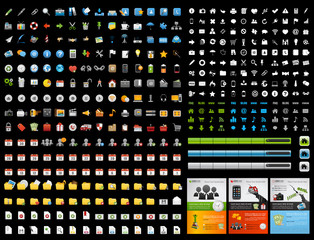 vector Icons Set for Web Applications, Internet & Website icons