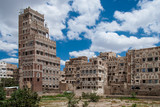 Traditional yemeni architecture in Sanaa, Yemen