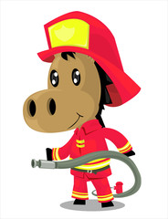 horse boy firefighter