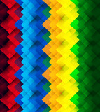 Seamless geometric rainbow colorful mosaic pattern Vector repeat