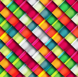 Geometric colorful seamless pattern texture design Vector backgr