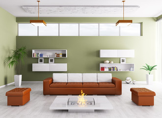 Interior of modern living room