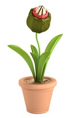 realistic 3d render of carnivorous plant