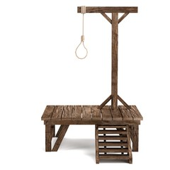 realistic 3d render of gallows