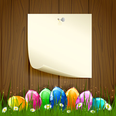 Paper and Easter eggs
